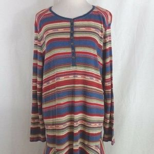 RALPH LAUREN STRIPED SHIFT DRESS 3X NAVAJO